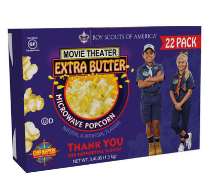 Picture of 22 Pack Movie Theater Extra Butter Microwave Popcorn